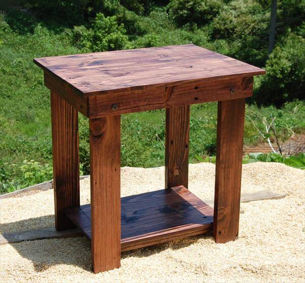 DIY Pallet Side Table – End Table and Bedside Table | 101 ...
