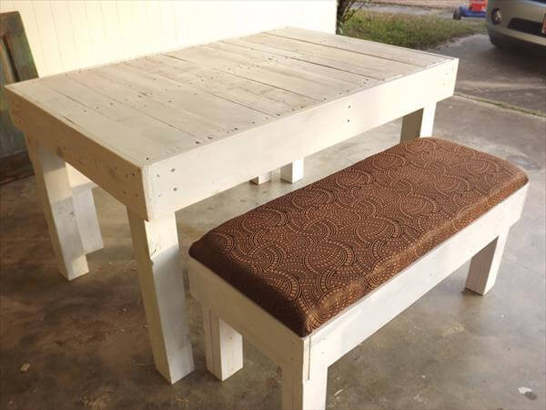 rustic shabby chic pallet dining table
