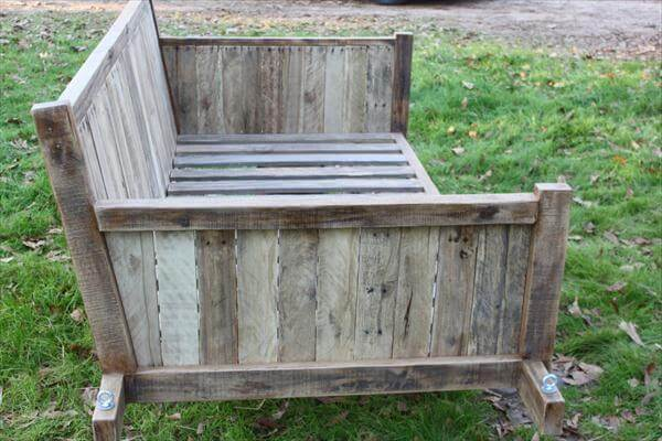 diy pallet bed swing