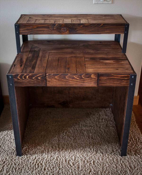 DIY Recycled Wood Pallet Desk | 101 Pallets