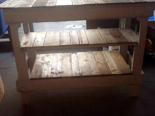 rustic yet modern pallet kitchen island table