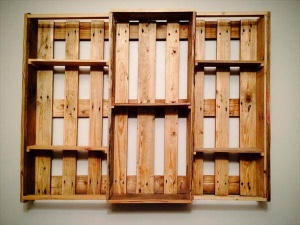 recycled pallet shelving - DIY Pallet Wall Hanging Shelf €� Decorative Shelving Unit 101 Pallets