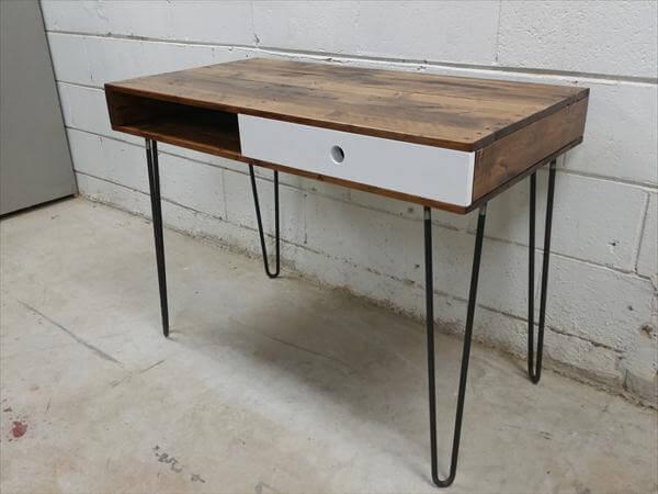 Wooden Pallet Desk Hairpin Legs 101 Pallets