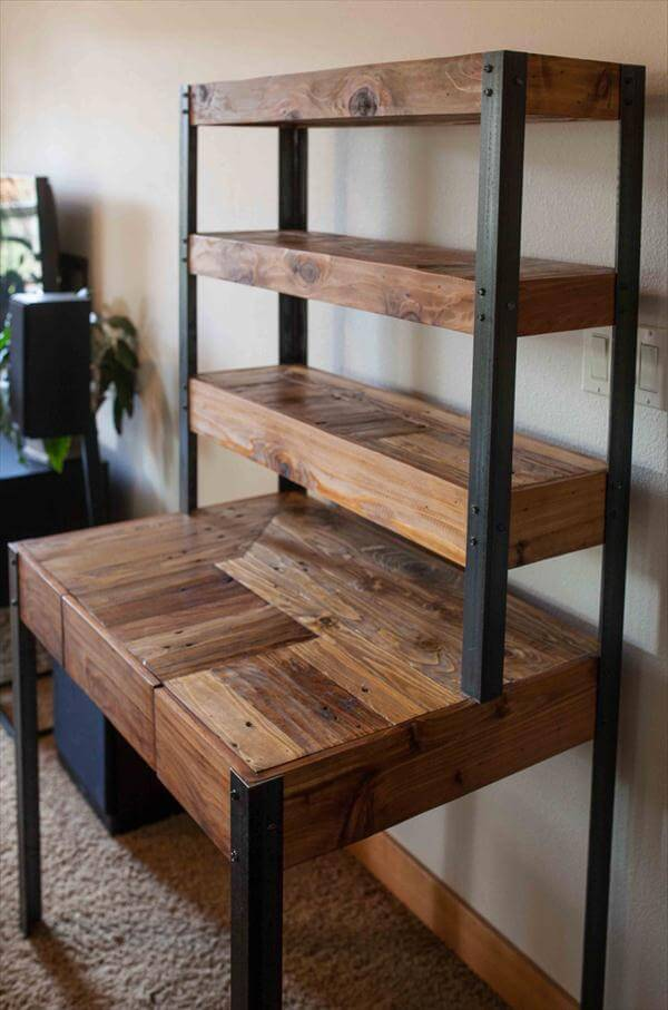 Multi Tiered Pallet Desk 101 Pallets