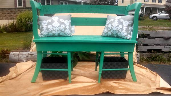 ... diy creative pallet chair patio bench diy tutorials how to make a