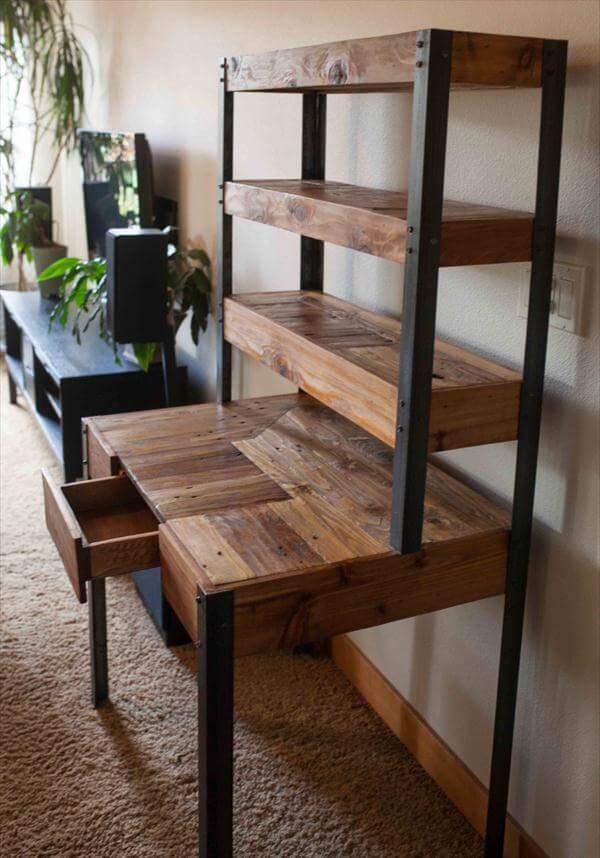 Multi-Tiered Pallet Desk | 101 Pallets