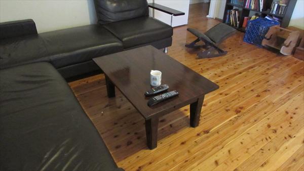 Reclaimed Pallet Coffee Table Steel Base 101 Pallets