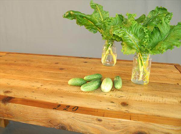 rustic yet modern pallet farmhouse styled dining table