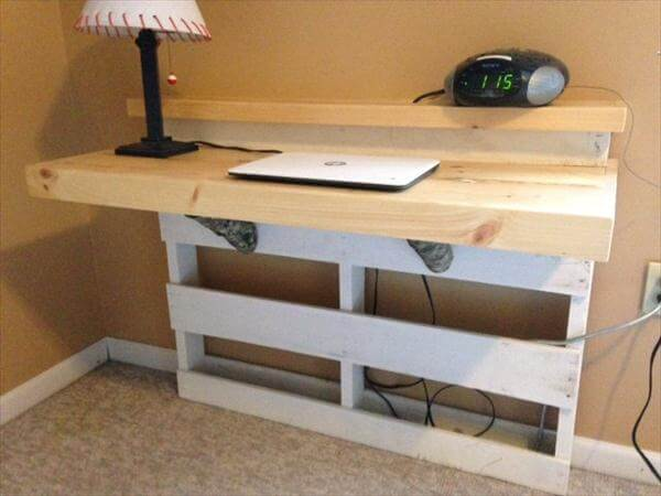 desk with 3 touch to open drawers pallet office desk diy computer desk