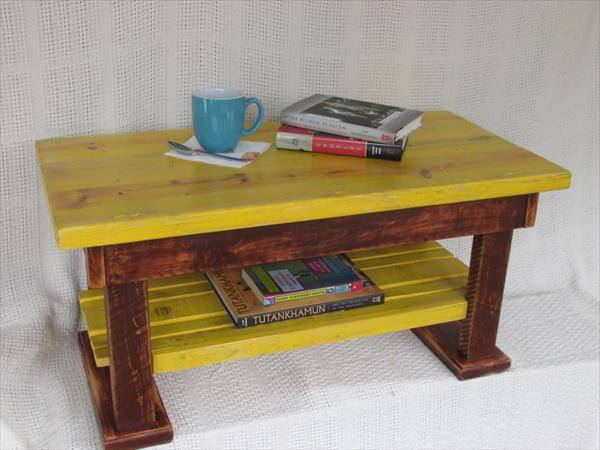 repurposed pallet 2 toned coffee table