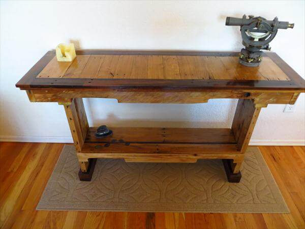 handcrafted pallet sofa table