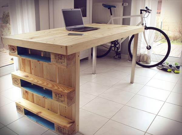 ... table diy pallet wood corner computer desk pallet computer desk with