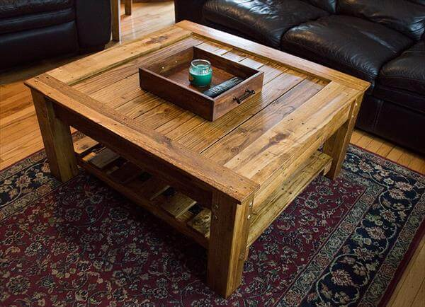 diy pallet coffee table beautiful and functional 101 pallets. Black Bedroom Furniture Sets. Home Design Ideas