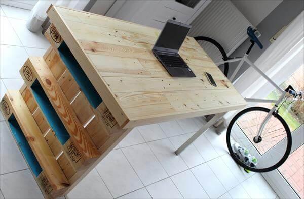 rustic yet modern pallet desk