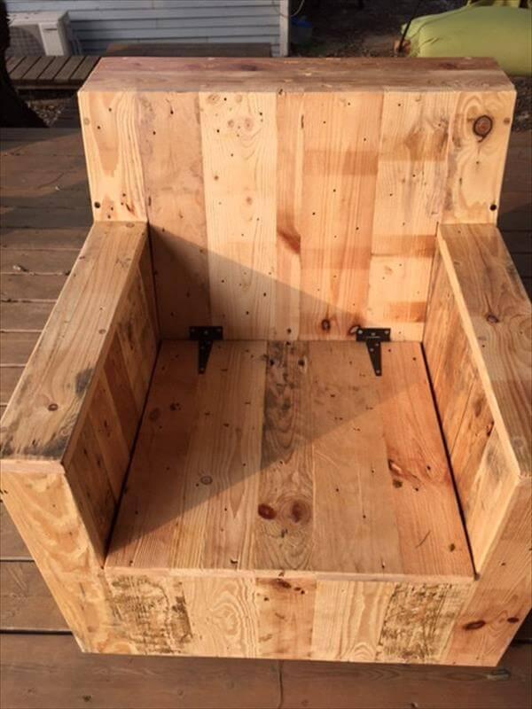 Diy Beefy Pallet Wood Armchair 101 Pallets