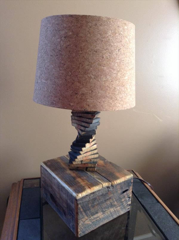 Upcycled Spiral Pallet Lamp 101 Pallets