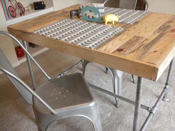 DIY Wood Pallet Dining Table No Much Cost 101 Pallets