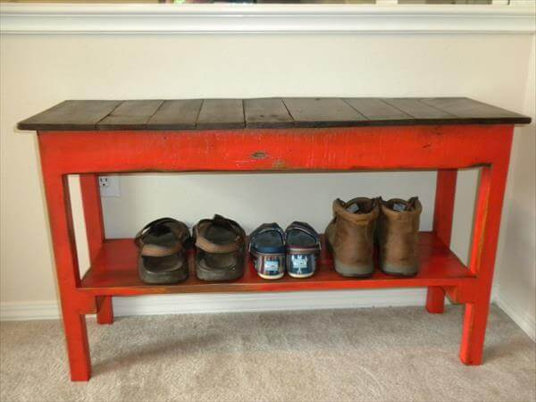 ... shoe rack diy pallet entryway bench rustic pallet bench with shoe rack
