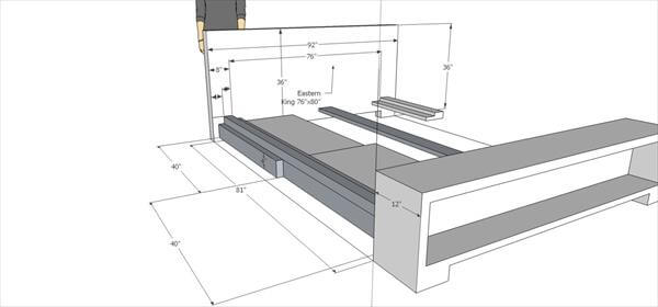 plan for this rustic bed with storage