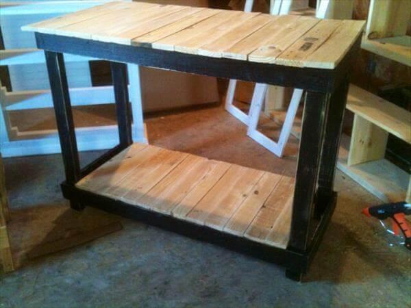 DIY Pallet Made Kitchen Island Table | 101 Pallets