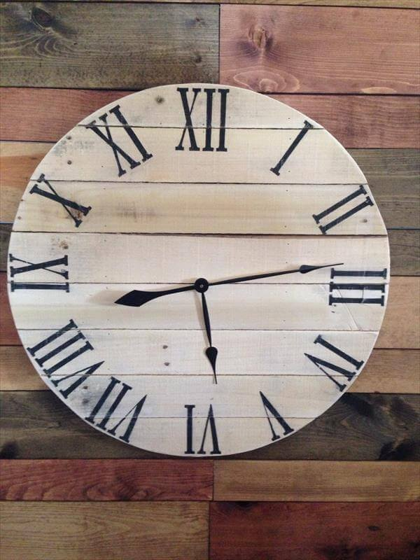 DIY Rustic Pallet Wall Clock