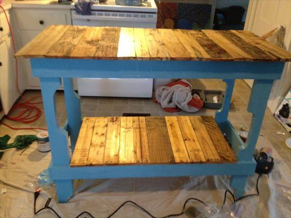 DIY Rustic Pallet Kitchen Island 101 Pallets