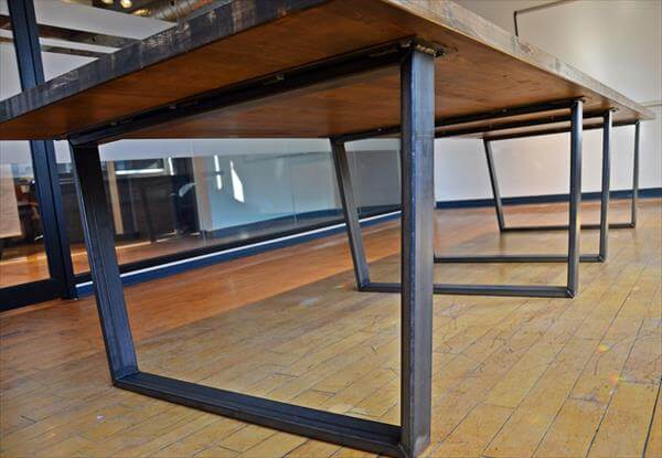 DIY Industrial Pallet Conference Table 101 Pallets