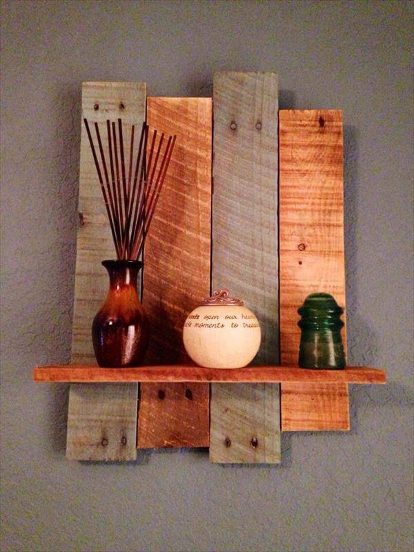 Wall Decor Made From Wood : Diy rustic pallet wall shelf pallets