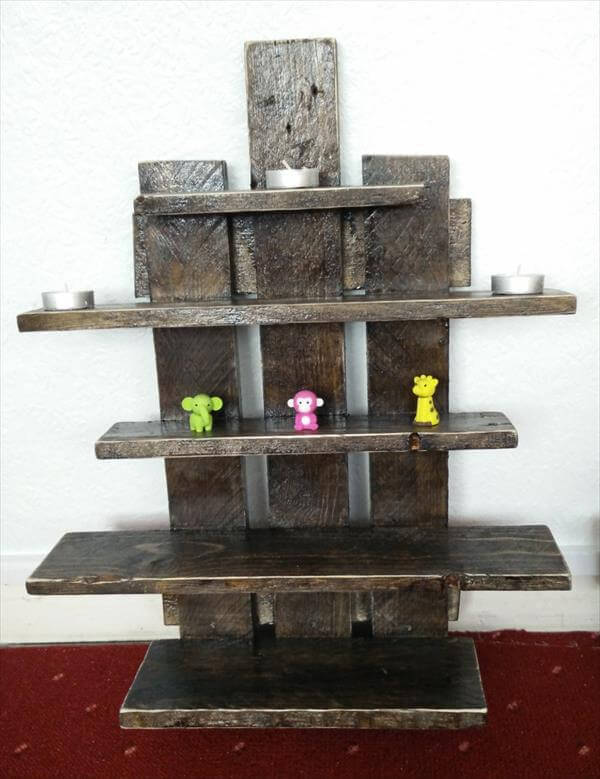 upcycled pallet set of floating shelves