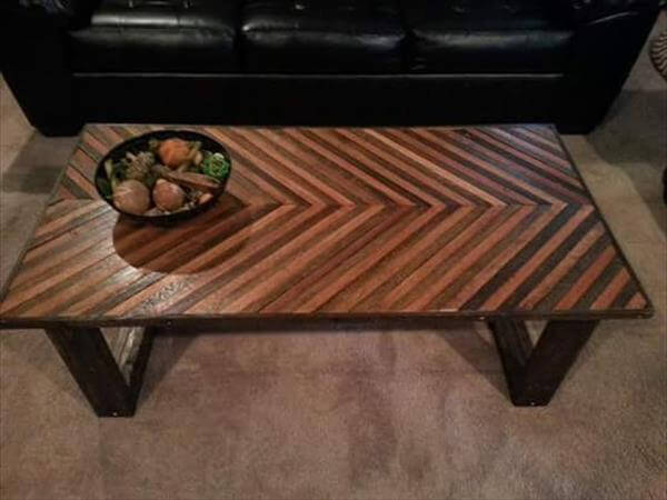 diy pallet chevron coffee table