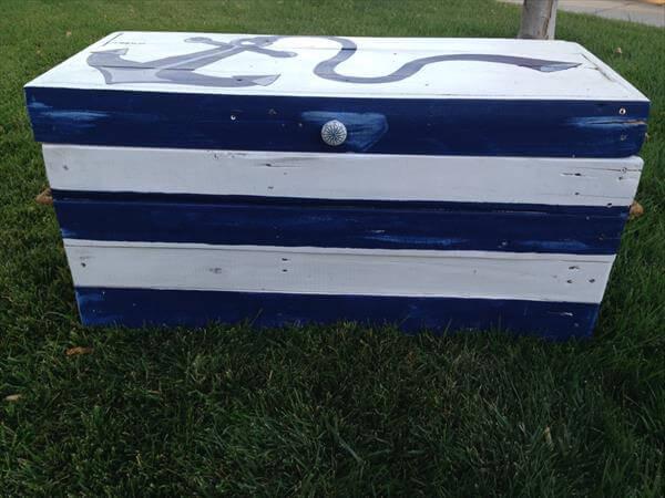 DIY Pallet Wood Storage Chest or Trunk | 101 Pallets