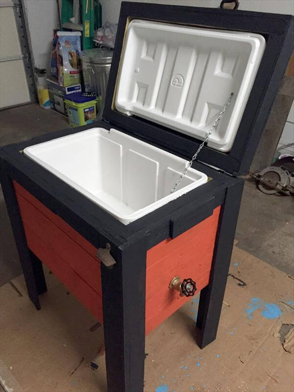 DIY Pallet Outdoor Cooler Ice Chests 101 Pallets
