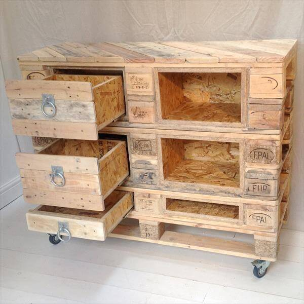 diy pallet chest with drawers 101 pallets. Black Bedroom Furniture Sets. Home Design Ideas