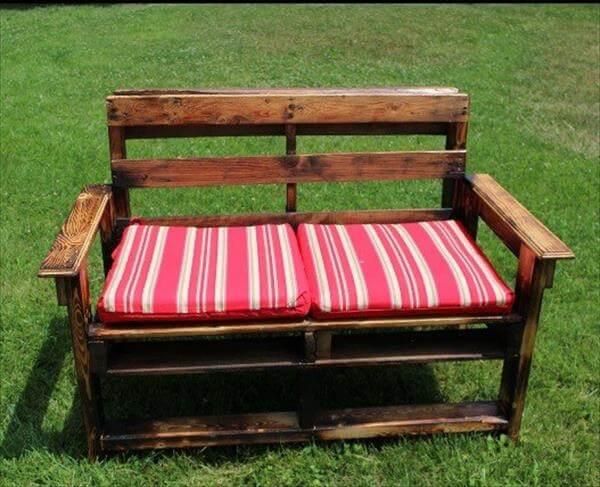 DIY Large Pallet Garden Bench | 101 Pallets