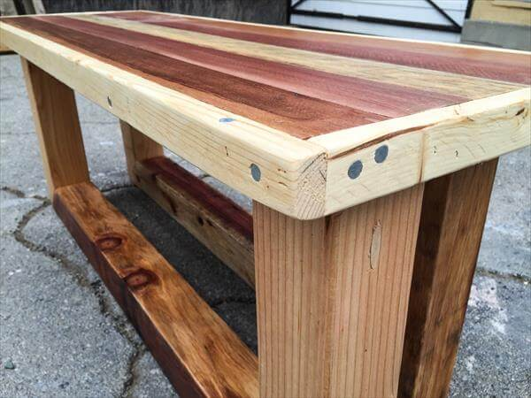 Pallet Foyer Bench : Pallet vintage entryway table or bench pallets