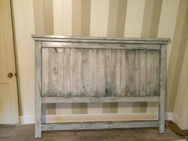 Diy Wood Headboard diy pallet wood farmhouse style headboard | 101 pallets