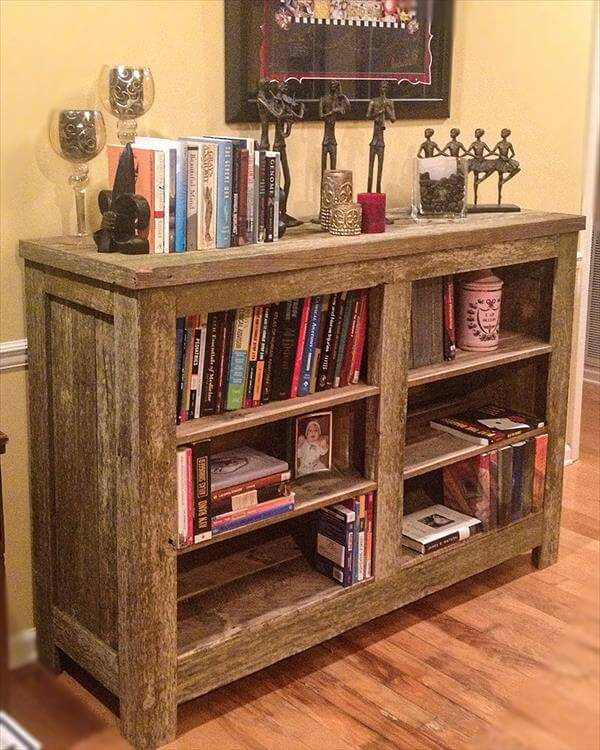 DIY: Making Bookshelf Out of Pallets | 101 Pallets