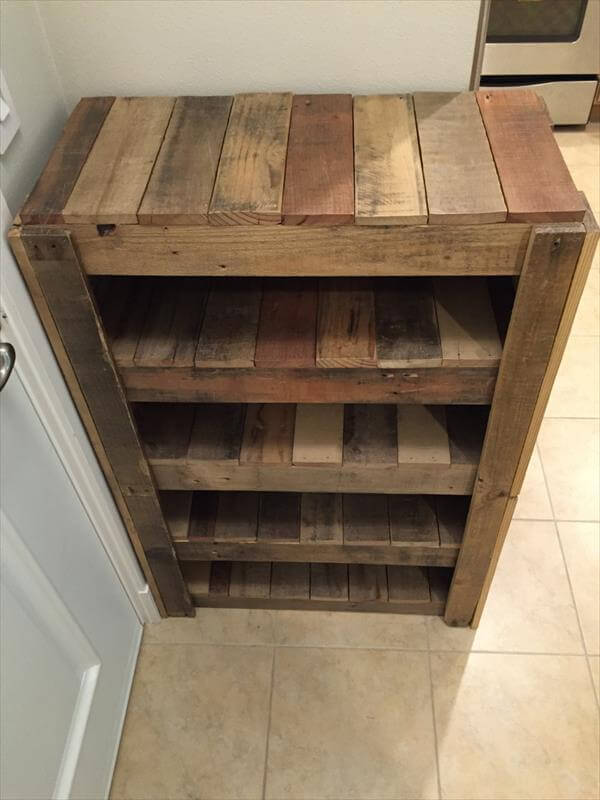 Diy Entryway Shoe Rack 100 Pallets 101 Pallets