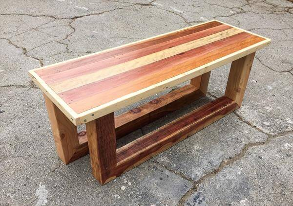 Handmade pallet vintage coffee table