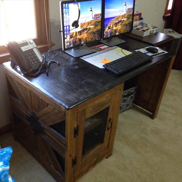 diy wooden computer desk | Quick Woodworking Projects