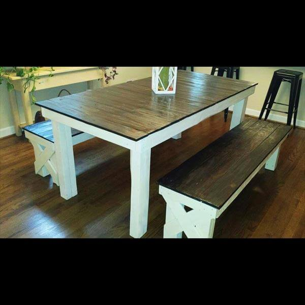 Repurposed Farmhouse Dining Table