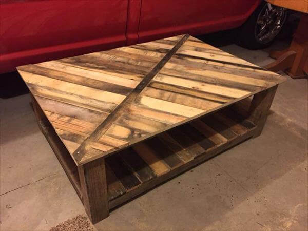 Diy Recycled Wood Coffee Table | AndyBrauer.com
