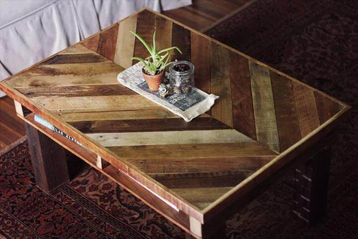 no-cost chevron pallet coffee table