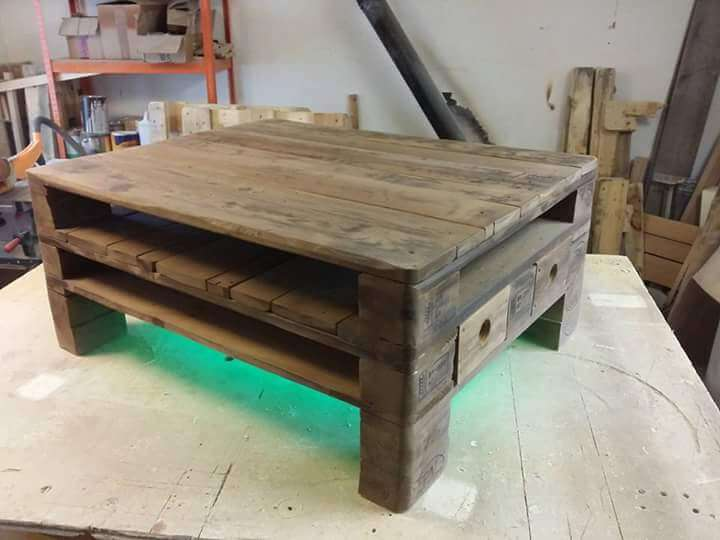 Euro Pallet Coffee Table Design