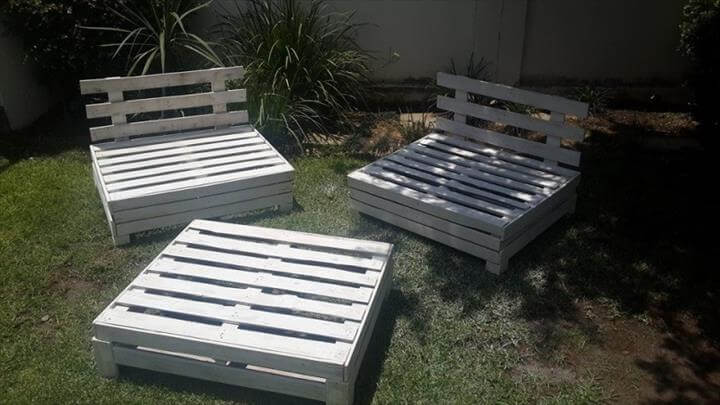 garden furniture set made of pallets - Garden Furniture Diy