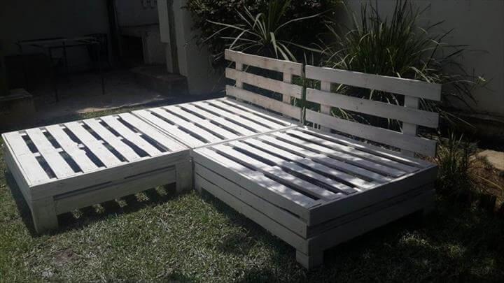 repurposed pallet garden furniture set. DIY Designed Pallet Patio Furniture Set   101 Pallets
