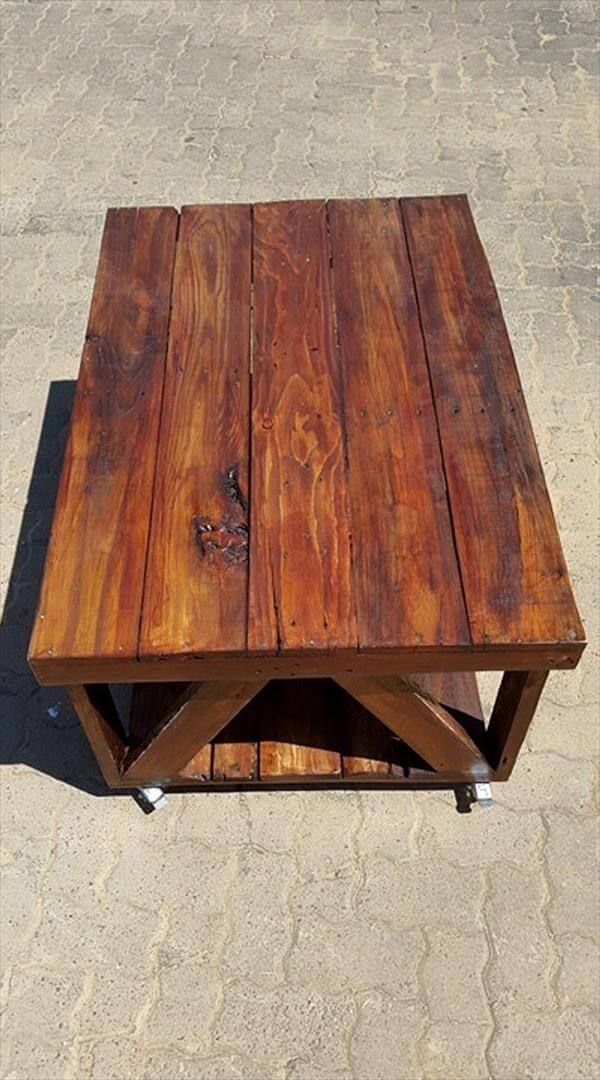 wooden pallet antique coffee table