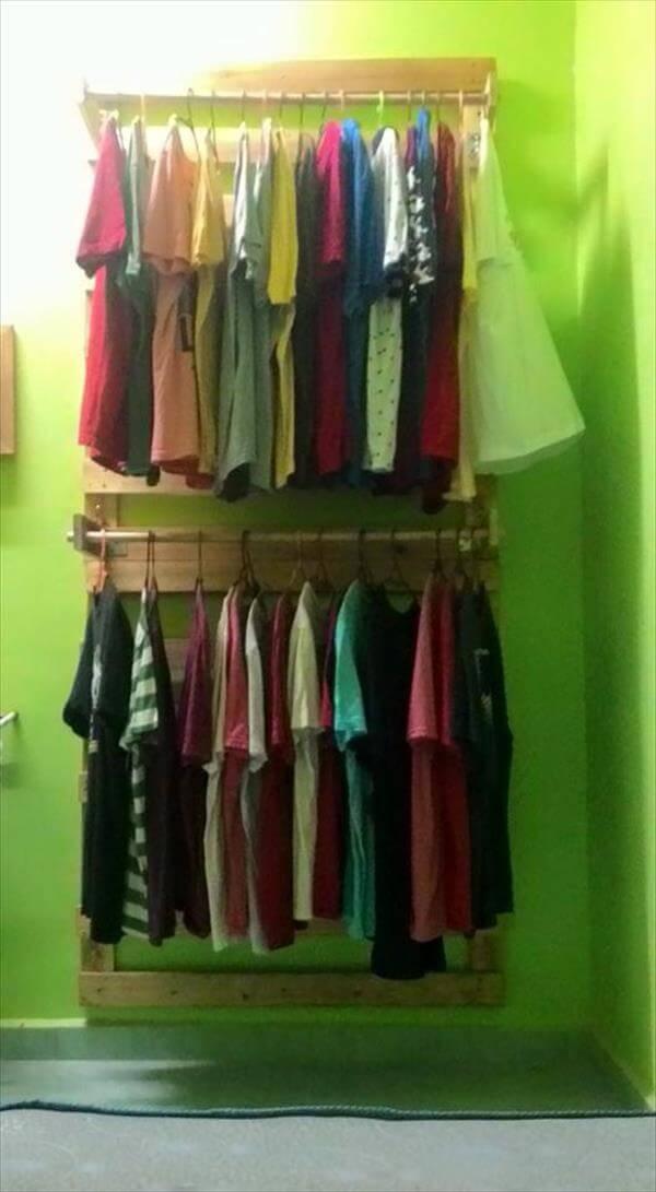 repurposed pallet cloth rack