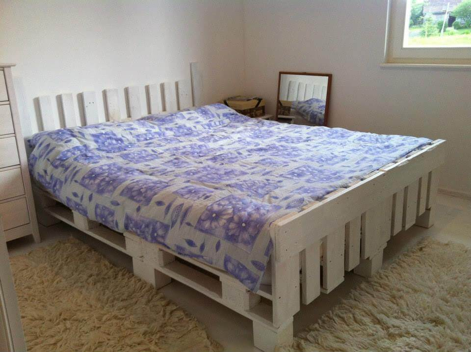 6 Effortless Pallet Bed Designs at no-cost | 101 Pallets on Bed Pallet Design  id=60886
