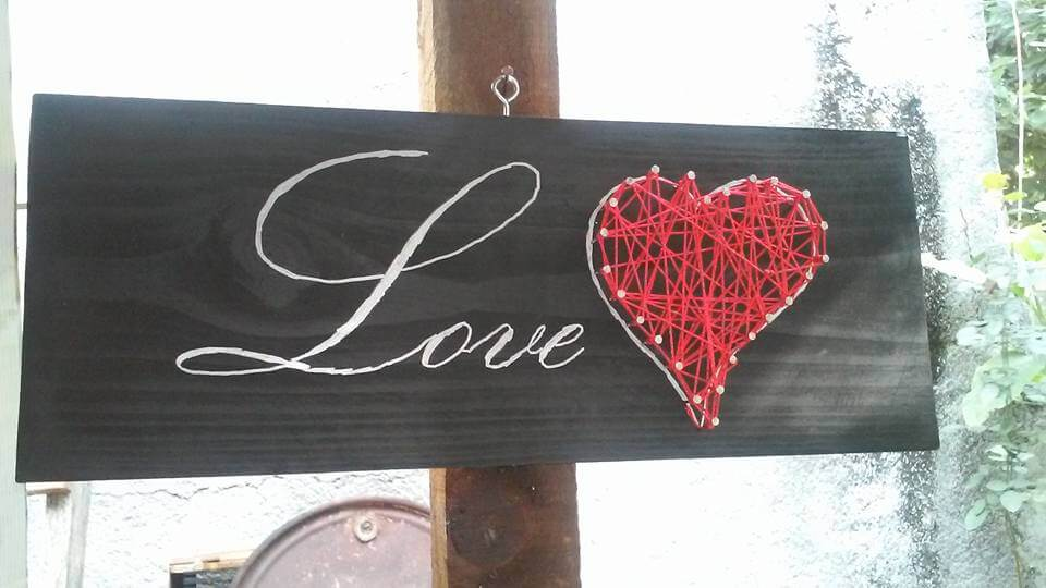 Pallet Love Sign Art